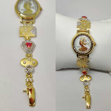 18k ladies fancy gold watch g-2231