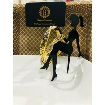 22KT/916 BEAUTIFUL GOLD COPPER KADLI BANGLE by