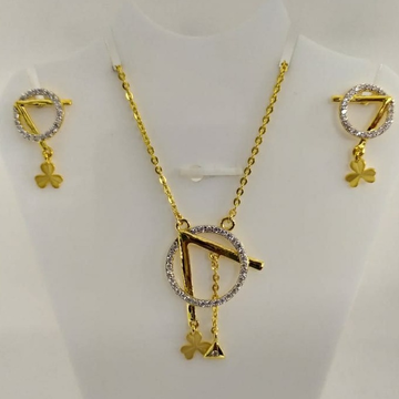 916 gold cz dokiya with earrings by