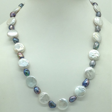 Freshwater White and Grey BaroquePearls Knotted M...