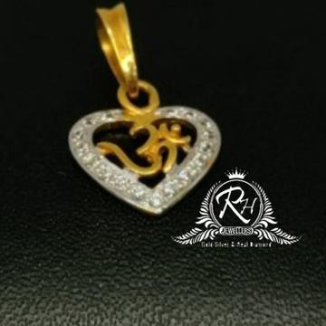 22 carat gold heard shape om pendal RH-PL997