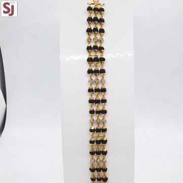 3 Line Rudraksh Lucky Black RLG-0035 Gross Weight-24.700 Net Weight-21.440