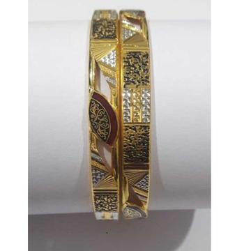 22KT Gold Fancy Handmade Designer Copper Kada by