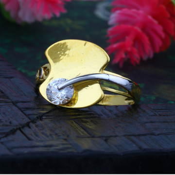 916 CZ Gold Valentine Diamond Ring JJLR-009