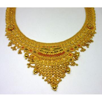 Gold 22k hm916 culcutti classic short necklace set