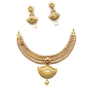 Mani Moti Necklace Set Khokha OM - N015