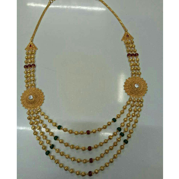916 Gold Fancy Broch Mala