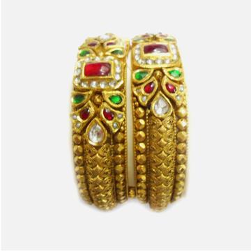 916 Gold Antique Bridal Bangles RHJ-5000