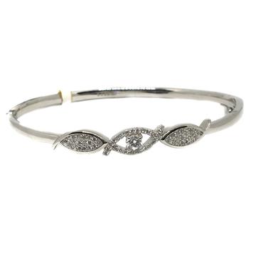 925 Sterling Silver CZ Diamond Bracelet MGA - BRS0405