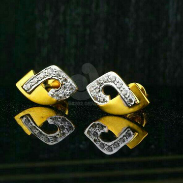 18ct CZ Gold Fancy Tops