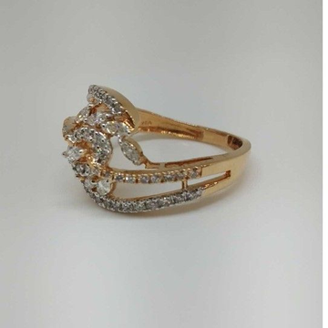 Real Diamond Rose Gold Branded Ladies Ring by