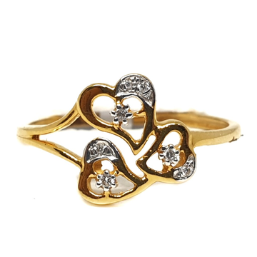 18k gold real diamond ring mga - rdr0046