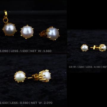 18 kt single stode moti khulsh earrings design