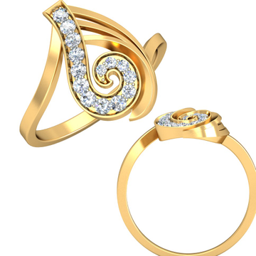 22KT Yellow Gold Edwina Ring For Women