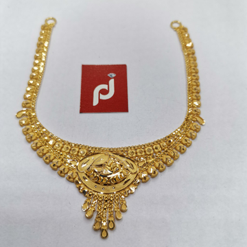 plain gold necklace by