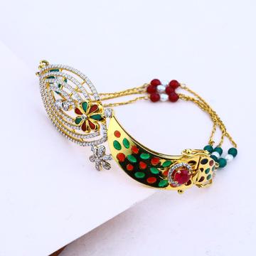 Ladies 18K Gold Italian Kada Bracelet-LIB26