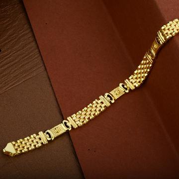 22K Gold Plain Cartier Mens Bracelet-MCRB23