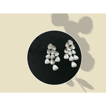 92.5 Sterling Silver Rodyam Earring Ms-3855