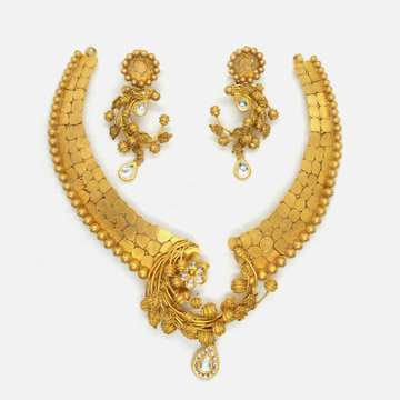 916 Gold Antique Bridal Jewellery Set RHJ-4559