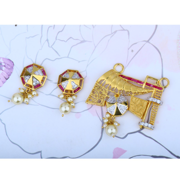 916 Gold Antique Pendant Set MPG - 0170