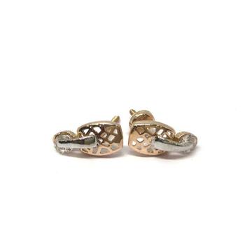 18k Ladies Fancy Single Stone Earring E-60528