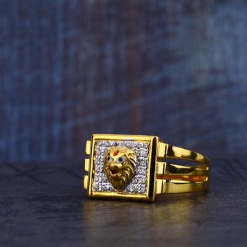 Gold Lion Mens Ring-MR326