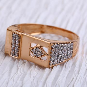 750 Rose Gold Hallmark Designer Mens Ring RMR85