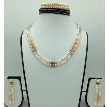 Freshwater Multicolour FlatShaded 2Lines Pearls...