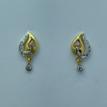 22k hallmark cZ light weight earrings by Shree Sumangal Jewellers