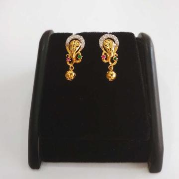 22 k gold fancy earring nj-e086