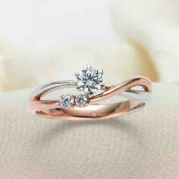 18KT Rose Gold Fancy Engagement Ring