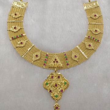 916 Gold bharavadi set
