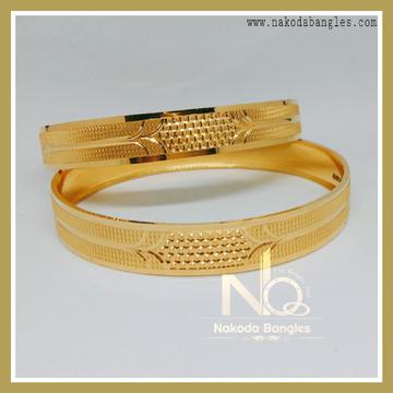 916 Gold Patra Bangles NB-237
