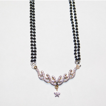 14k gold diamond mangalsutra agj-tm-06