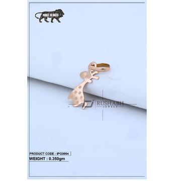 18 Carat Italian pendent rose gold ziraf shape ipg0094