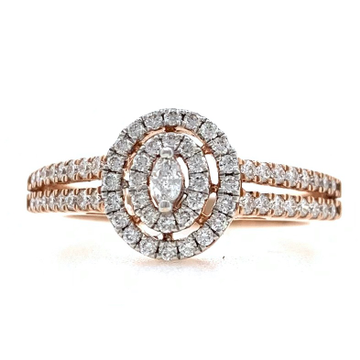 18kt / 750 rose gold contemporary diamond ladies ring 9lr10