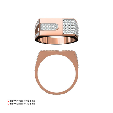 Rose Gold Gents Rings by