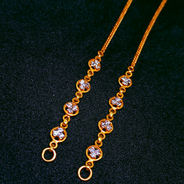 22K Gold Delicate Kanser by Ghunghru Jewellers