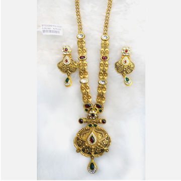916 Gold Antique Bridal Long Necklace Set RHJ-6029
