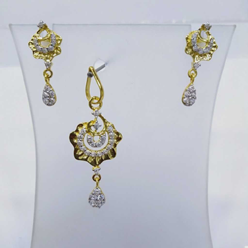 840 gold fancy light weight pendant set rj-ps002 by