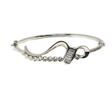 925 Sterling Silver Designer Kada Bracelet MGA -KRS0028