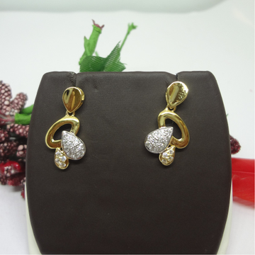 916 GOLD RAUND CZ EARRINGS