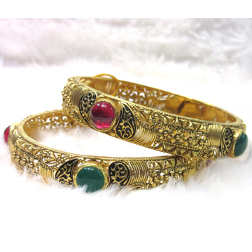Gold Fancy Oxidized Shade bangles