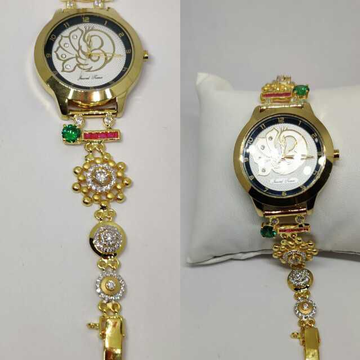 18k Ladies Fancy Gold Watch G-2235