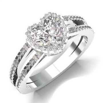 LITTLE HEART CZ DIAMOND RING LR0015