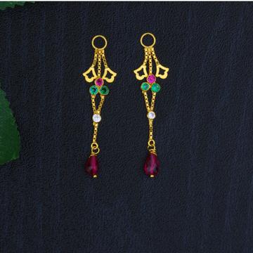916 Double Line Gold Latkan for Earrings JJ-015