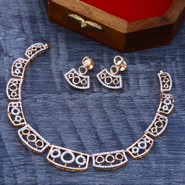 Necklace Set Rosegold Cz by