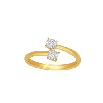 Fancy real diamond ladies ring by