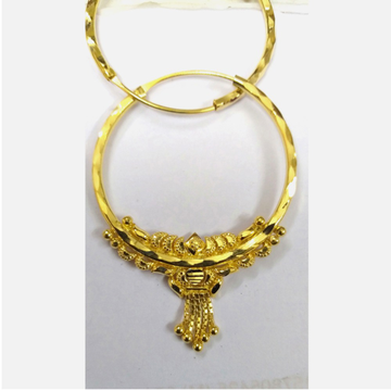 22K Gold Traditional Earrings For Ladies
