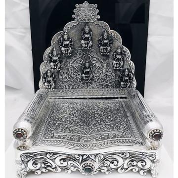 92.5 pure silver asthalakshmi singhasan with gemst...